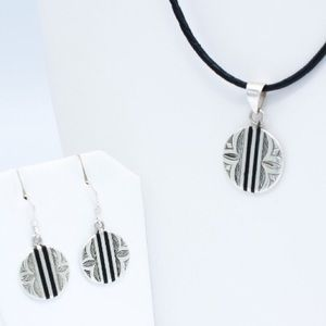 Jewelry - Wood and Silver Set SP0108
